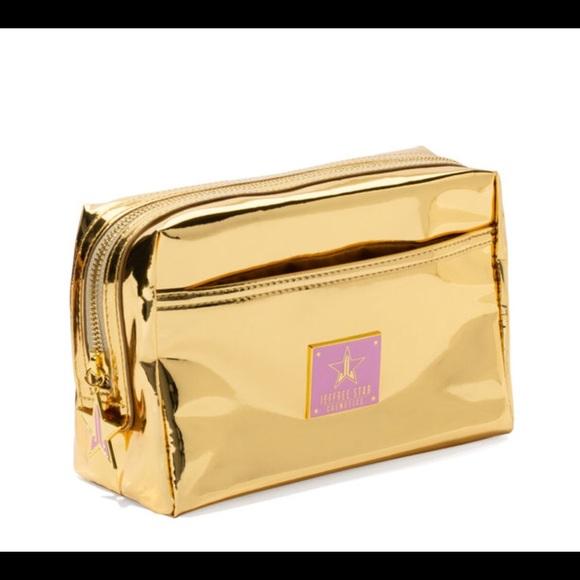 Jeffree Star Handbags - Jeffree Star Gold Make up bag